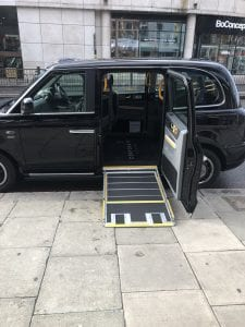 electric black cab in hampstead