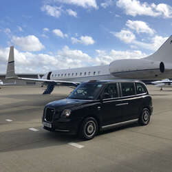 corporate black taxi hire london for airport transfers